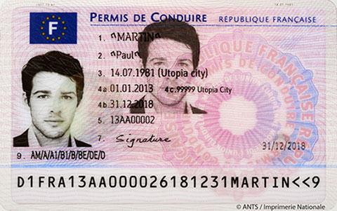 photo du permis de conduire