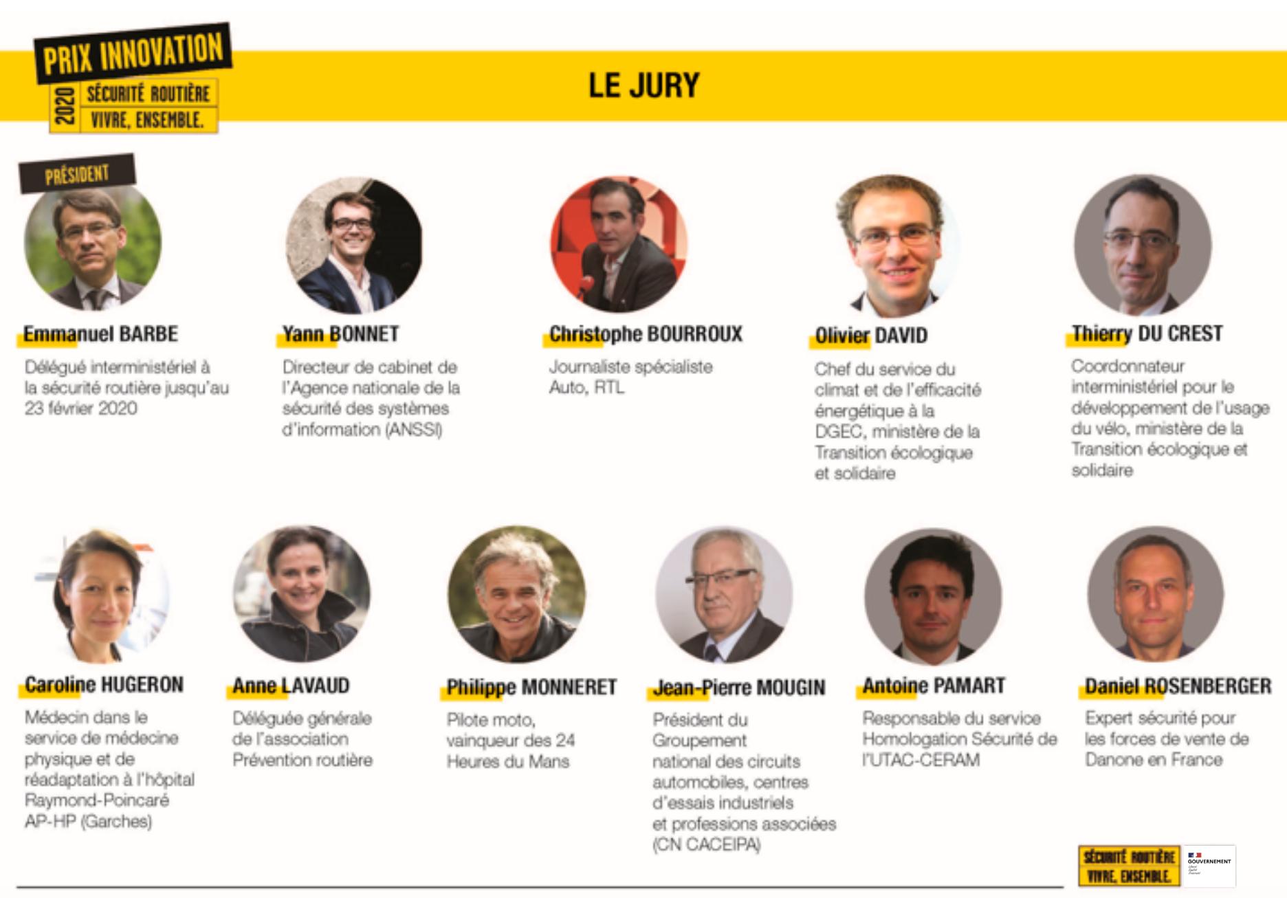 Jury prix innovation 2020