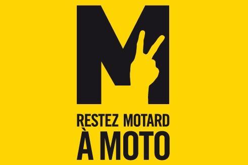 Affiche - restez motard à moto